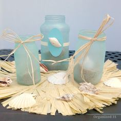 Turn Your Leftover Jars Into Beachy Party Lanterns