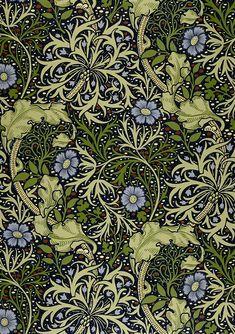 Дизайн текстиля и обоев студии Уильяма Морриса. Англия, последняя треть XIX века.