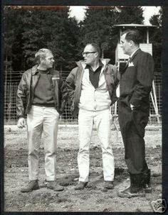 """Steve McQueen, director John Sturges and technical advisor Wally Floody between scenes of """"The Great Escape"""" August, 1962 Best Director, Film Director, Steeve Mac Queen, Ethel Waters, Hattie Mcdaniel, Cult Of Personality, The Magnificent Seven, Turner Classic Movies, American Legend"""