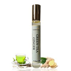 Organic Green Tea Ginger PERFUME Oil, Green Tea Ginger Perfume Roll On, Vegan Perfume, Natural Perfume Oil, Gift Idea by ScentualAroma on Etsy