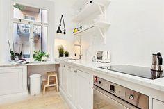 open plan kitchen in white 2