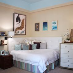 Corner Bed Design Ideas, Pictures, Remodel, and Decor
