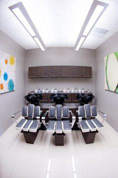 Salon Tour: Clary Sage Salon & Spa | Salon Today Posh Nails, Pedicure Station, Salon Chairs, Treatment Rooms, Clary Sage, Spa, Beauty Salons, Salon Ideas, Table