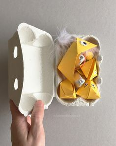 schaeresteipapier: Sortierspiel mit Origami-Vögeln: Nestlinge füttern...