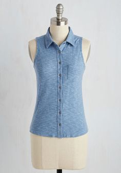 Teachers' Lounging Top in Dusty Blue