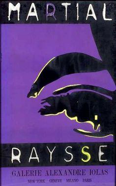 En vente dimanche 1er mai 2016 par l'Etude de Provence à Marseille et sur le Live Interencheres : Martial RAYSSE (1936) L'oeil de France Raysse (violet) Affiche pour la Galerie Alexandre Iolas. Très bon état encadrée. Vers 1965. Est. 350 - 400 euros.
