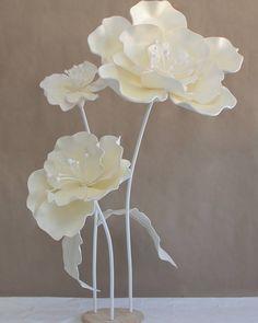 Также у нас всегда есть в наличии белые цветы самого разного размера на стеблях…