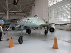 The Messerschmitt Me 262 was the world's first operational jet-powered fighter aircraft Ww2 Aircraft, Fighter Aircraft, Fighter Jets, Ferrari F80, Messerschmitt Me 262, Jet Engine, Military Jets, Model Airplanes, Luftwaffe