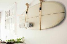 waiting for saturday : jessica barensfeld surf board Surfboard Wall Rack, Surfboard Storage, Surfboard Decor, Surf Decor, Surf Room, Beach Room, Decoration Surf, Surfer Bedroom, Deco Surf