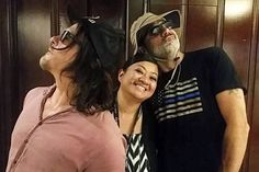 With these silly guys  Norman Reedus & Jeffrey Dean Morgan. My 2 faves together aghhh!  Comic-Con made! #sdcc2017  = @atlt7 IG #thewalkingdead #twd #thewalkingdeadseason7