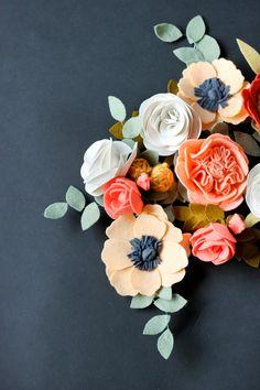 DIY Felt Flowers // Delia Creates