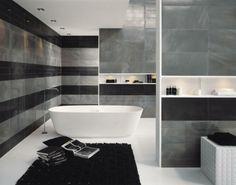 peinture salle de bains pour agrandir lespace restreint - Carrelage Ardoise Pour Salle De Bain