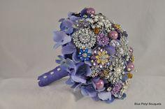Lavender Hydrangea in the Brides Colors:) #BroochBouquet #WeddingBouquet