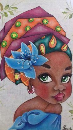 do Pap tr Black Women Art, Black Art, African Art Paintings, Cuban Art, Afro Art, African American Art, Beauty Art, Fabric Painting, Female Art