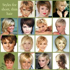 STYLES FOR SHORT THIN HAIR http://www.facebook.com/pages/Rock-your-Locks/133025596754055?fref=ts
