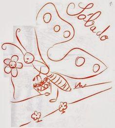 desenho da semaninha da borboleta sabado