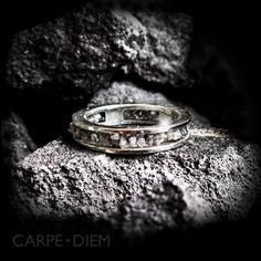 Carpe Diem 14K White Gold Uncut Diamond Diamonds Wedding Band Engagement Ring Rings Jewelry Jewellery CDR-209. $480.00, via Etsy.