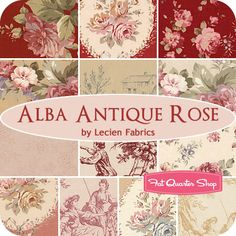 Alba Antique Rose Fat Quarter Bundle Lecien Fabrics