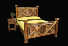 ThisRustic Queen Bed features an Elegant Barnwood look without the hefty price tag. Description from ebay.com. I searched for this on bing.com/images