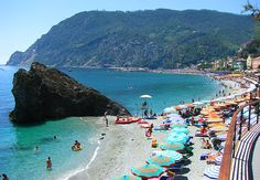 Monterosso, Cinque Terre, Italy. Start of a coastal hike through five towns. Favorite place for soul searching...