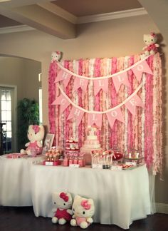 Hello Kitty party - Lana would LOVE it!