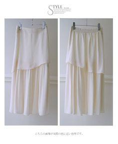 【楽天市場】裾切り替えシフォンの女性らしいスカート3/28新作シフォンスカート/二段/切り替え/アシンメトリー:Style for mom