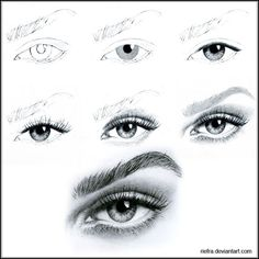 Karakalem Göz Çizim Aşamaları
