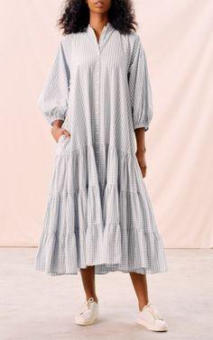 Checks Kaftan Dress By Bytimo | Moda Operandi