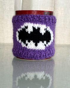 Knitting Pattern for Batman Mug Cozy
