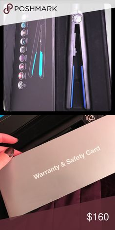 """Valectric hair straightener 1"""" Blue Tourmaline Brand new hair straightener in box. Comes with free warranty card. Other"""