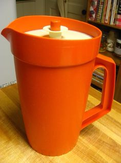 Tupperware Pitcher - not only does it make me want kool aid.I still have the kid sized tupperware tea set, now it lives in my boys play kitchen :)