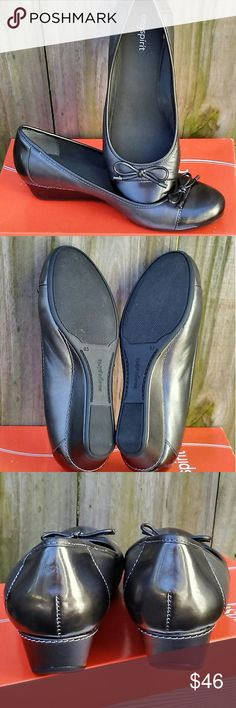 Easy Spirit flats size 8.5 gray pewter Easy Spirit flats Small wedge 1.5 wedge New with box Easy Spirit Shoes Flats & Loafers