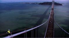 Atop the bridge