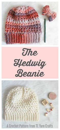Textured chunky crochet hat - easy pattern for fall and winter gifting! This looks SO cozy!