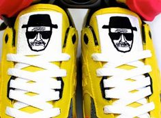 "Saucony Shadow 5000 Breaking Bad Walter ""Heisenberg"" White Customs by PKZUNIGA Sneakers"