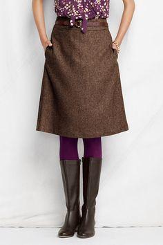 Purple tights with brown tweed