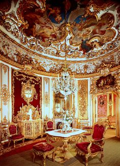 Linderhof Palace is a schloss in Germany, in southwest Bavaria near Ettal Abbey. It is the smallest of the three palaces built by King Ludwig II of Bavaria