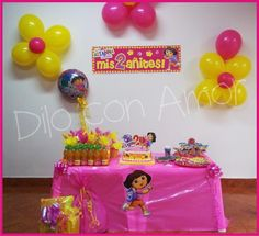 Photo 3 of 25: Dora the Explorer / Birthday Arianna the Explorer | Catch My Party