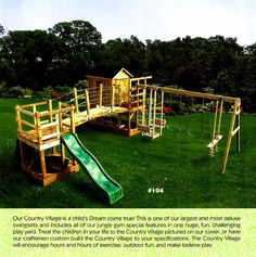 Swingset with Suspension Bridge