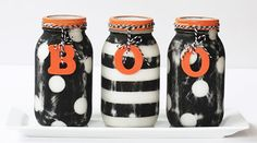 10 Halloween Mason Jar Craft Ideas with DIY Tutorials