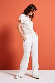 Morning Glow | Fashion | Shirt | Embroidery | Ecru | Pants | White | Lookbook