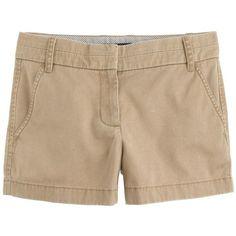 "J.Crew 3"" Chino Short (96 BAM) ❤ liked on Polyvore featuring shorts, bottoms, pants, chino, short shorts, j. crew shorts, zipper shorts and chino shorts"