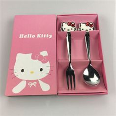 DAY DAY FUN 2017 Kids Dinnerware Sets Baby Tableware Cartoon kitty Baymax Minions Tableware Suit Stainless Steel Spoon And Fork