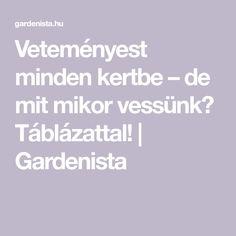 Veteményest minden kertbe – de mit mikor vessünk? Táblázattal! | Gardenista Minden