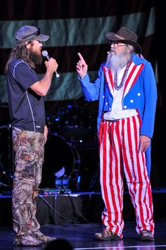 "Uncle Sam? Last night of the cruise...""Redneck, White and Blue"""
