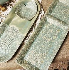 Image result for lace pottery trinket box
