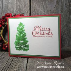 What a simply perfect Christmas card - that takes only MINUTES to make!  See how in my blog!