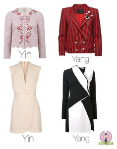 Yin and Yang by whatsmystyle on Polyvore featuring polyvore, fashion, style, Finders Keepers, Thierry Mugler, Marc Jacobs, Giambattista Valli and clothing