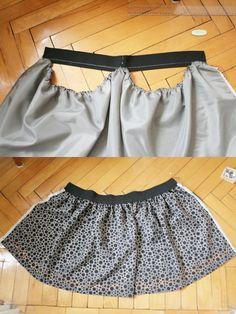 Pearls & Scissors: DIY Easy Gathered Skirt