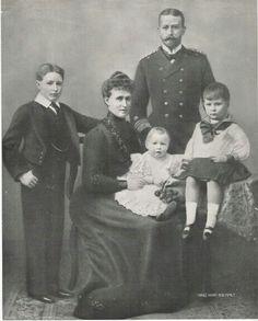 Princess Irene, Prince Henry and their three sons, Waldemar, Sigismund and Heinrich.